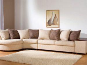 Перетяжка углового дивана на дому в Петрозаводске